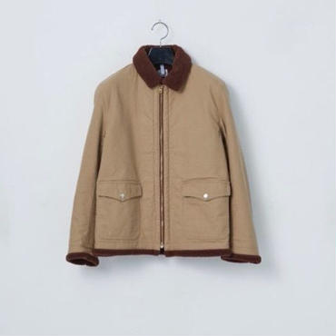「NECESSARY or UNNECESSARY」BOMBER COTTON / color -BEIGE