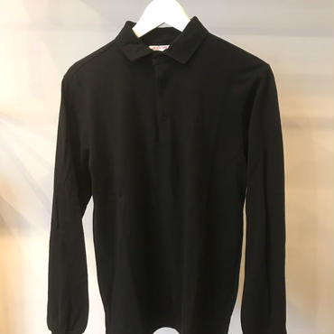 L/S POLO / color-BLACK