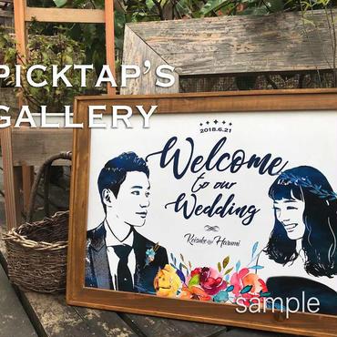 ■picktap's gallery■インパクトブーケ A3サイズ<額無し>ウェルカムボード