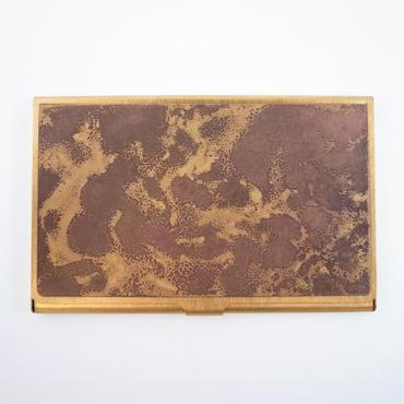 CORROSION BRASS CARDCASE HANMON ARASHI( 斑紋荒し色)