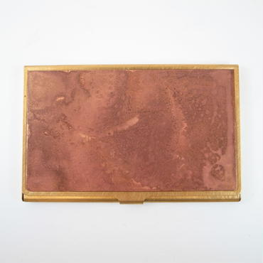 CORROSION BRASS CARDCASE COPPER PINK