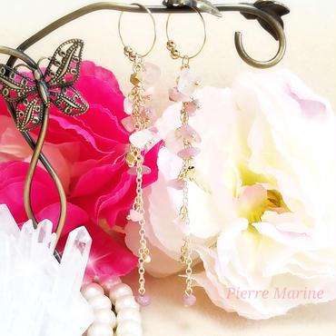10月の誕生石 ピンクトルマリン「愛のピンク」イヤリング