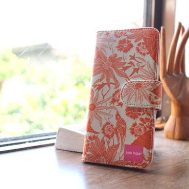 iphone6/6s 用手帳型ケース paradise orangeパラダイスオレンジ