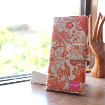 iphone5/5s 用手帳型ケース paradise orange