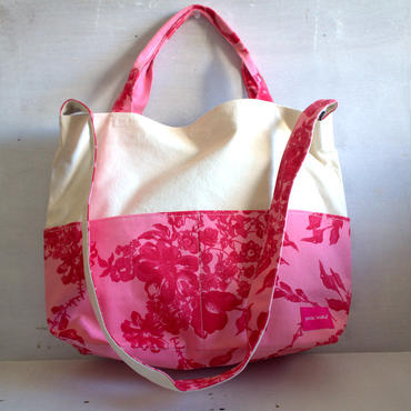 表柄は画像通り!2way tote bag -stella pink