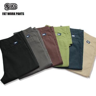 【先行予約!!】BLUCO(ブルコ)OL-002 FAT WORK PANTS 全6色(ベージュ・ブラック・ブラウン・グレー・ネイビー・オリーブ)