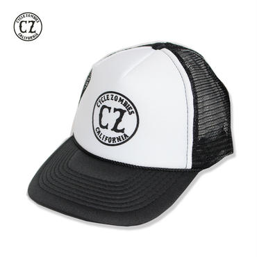 Cycle Zombies(サイクルゾンビーズ) CALIFORNIA Standard Trucker Hat BlackxWhite