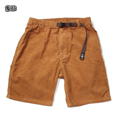 BLUCO(ブルコ)OL-005CD CORDUROY EASY PAINTER SHORTS ブラウン