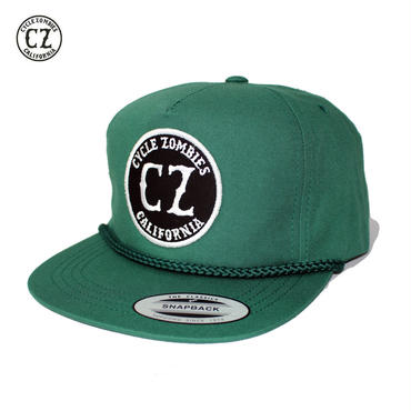 Cycle Zombies(サイクルゾンビーズ) CALIFORNIA Golf Snapback Hat グリーン