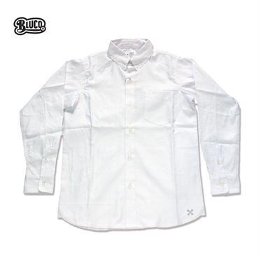 BLUCO(ブルコ) OL-112 OXFORD BD SHIRTS L/S ホワイト