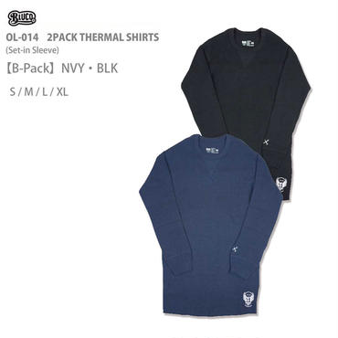 BLUCO(ブルコ) OL-014 2PACK THERMAL SHIRTS B-Pack ネイビー/ブラック