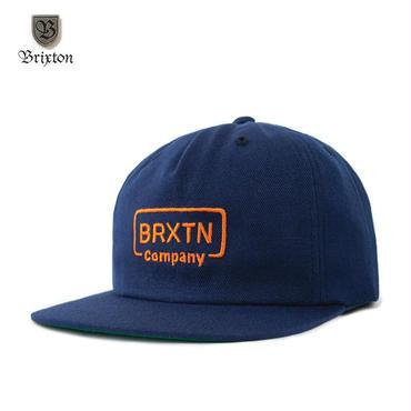 BRIXTON(ブリクストン) CROSSWHITE SNAPBACK ネイビー