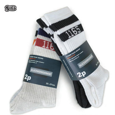 BLUCO(ブルコ) OL-302 2PACK SPORTS SOCKS A-pack (WHT / BLK)/B-pack (IVO / GRY)