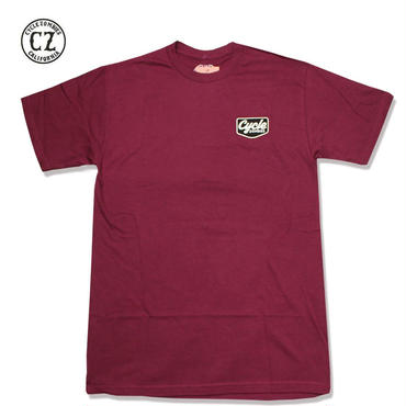 Cycle Zombies(サイクルゾンビーズ)VACANCY Premium S/S T-Shirt バーガンディ