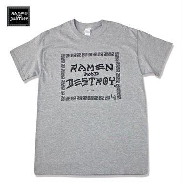 RAMEN&DESTROY Tシャツ グレー