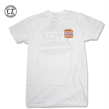 Cycle Zombies(サイクルゾンビーズ)BURGER Standard S/S T-Shirt ホワイト
