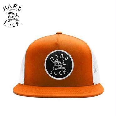 HARD LUCK(ハードラック) HARD SKULL TRUCKER オレンジxホワイト