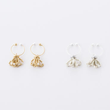 淡水パール&シードビーズタッセルイヤリング /  Freshwater pearl & seed beads tassel Earrings