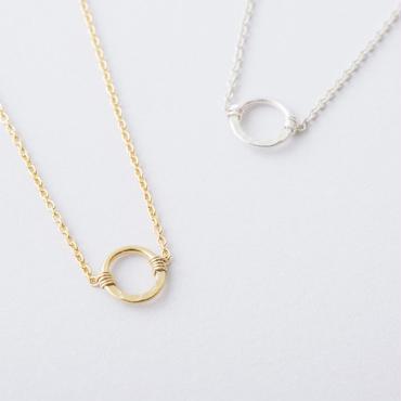 ハーフプレスリングネックレス  /  Half press ring Necklace