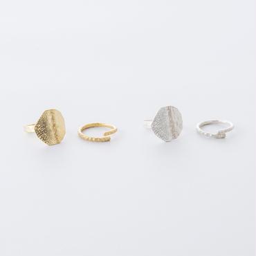 10スクエア2setリング /  Ramdom Decagon 2set Ring