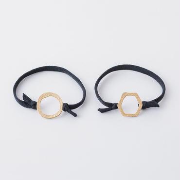 キカツチメリングプレートポニー  / Ring of Hammered finish  Hair elastic
