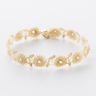 メタリックフラワーレースブレスレット /  Metallic Flower Lace Bracelet