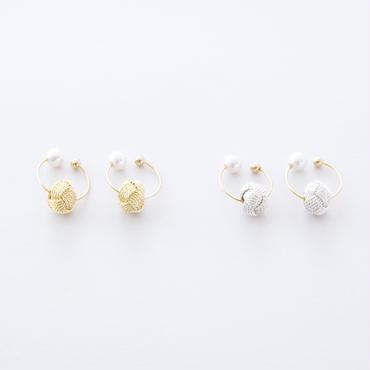 おだまき貝パールイヤリング  /   Odamaki & Pearl shell Earrings