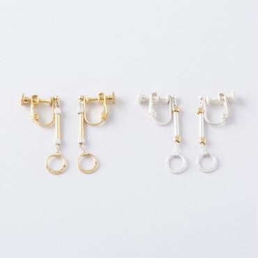 ハーフプレスリングイヤリング /  Half press ring Earring