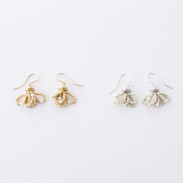 淡水パール&シードビーズタッセルピアス/  Freshwater pearl & seed beads tassel Pierce