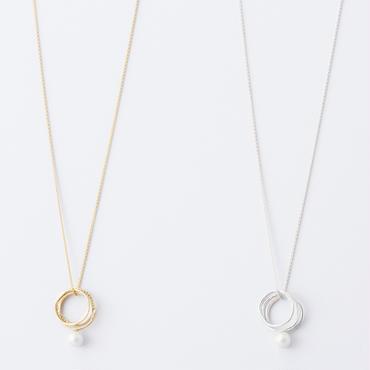 フロウラインリングネックレス  /  Flow Line Ring Necklace