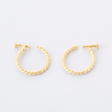 ツイストラインラージフープイヤリング /  Twist Line large hoop  Earring