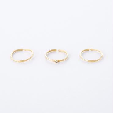 フロウライン3setリング(クリスタル)/   Flow Line 3set Ring  ( Crystal )