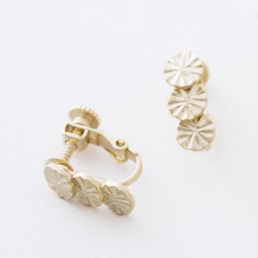ラディアルプレートイヤリング  /  Radial plate Earring