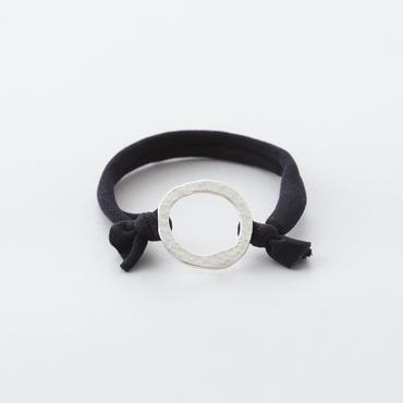 キカツチメリングプレートポニー  / サークル Ring of Hammered finish circle type Hair elastic