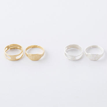 オーバル& i(アイ)2setリング / Oval& i 2set Ring