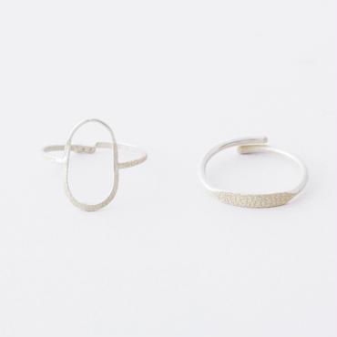 エッグライン2setリング  /  Egg line 2set Ring