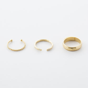 グレイニー3setリング / Grainy design 3set Ring