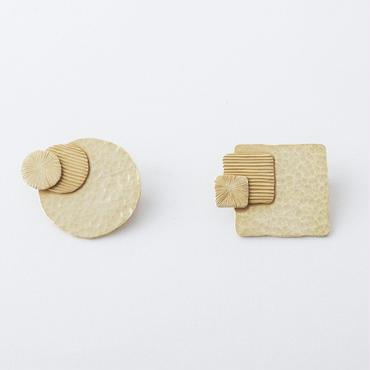 3テクスチャーブローチ /  3 texture Brooch