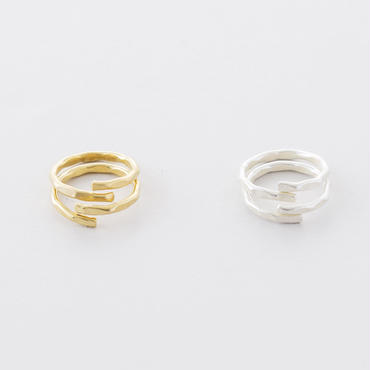 真鍮ハンマープレス2setリング(WAVE)/  Brass Hammer Press 2set Ring  (WAVE)
