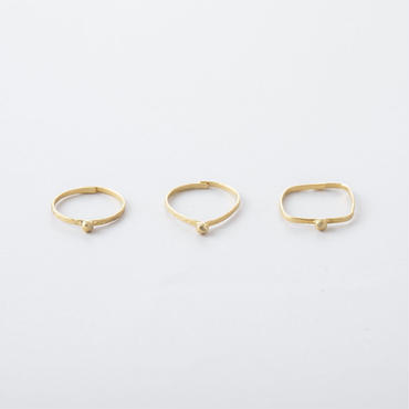 キカドット3setリング /  Geometry type 3 set Dot Rings