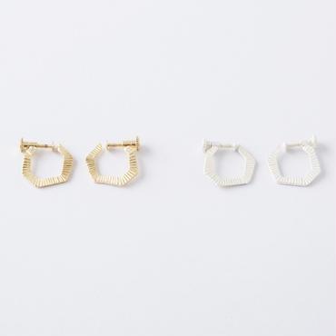 セブンスクエアイヤリング / Random Heptagon Earring