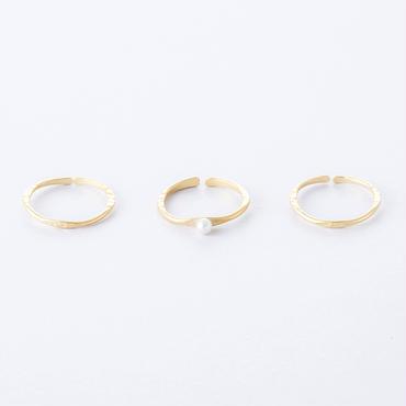 フロウライン3setリング(パール)/   Flow Line 3set Ring  (Pearl)
