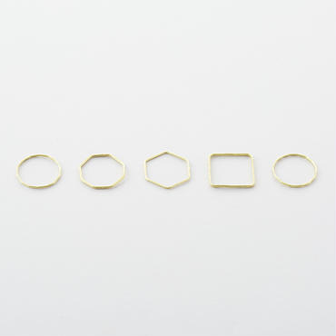 キカ5setリング  /  Geometry type Five-set Ring