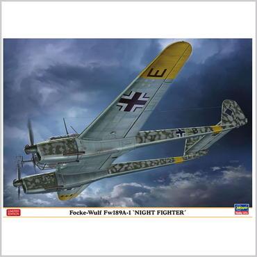 """プラモデル ハセガワ 1/72 フォッケウルフ Fw189A-1 """"ナイトファイター"""" 02286 特別仕様"""