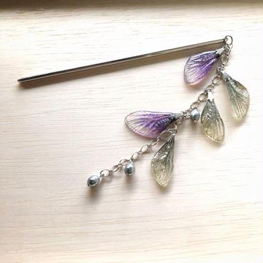 簪【蝉】Cicada Kanzashi -wisteria-