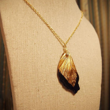 【蝶】Butterfly Necklace - Gold Black -