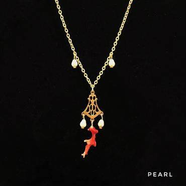 限定【サンゴ】Coral Branch Necklace