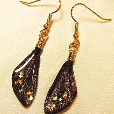 【蝉】Cicada Pierce Mini - Gold Black -