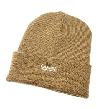 ORCHARD / SCRIPT EMBROIDERED SAND WOVEN BEANIE