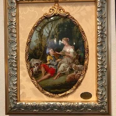イタリア製 壁掛け絵皿 ITALIA CORNITI